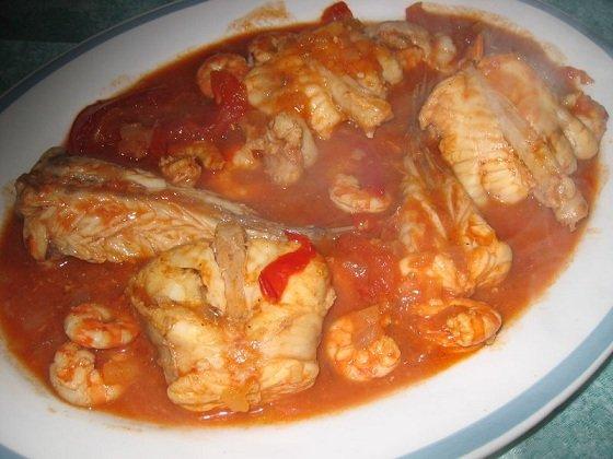 Crevettes a l'armoricaine