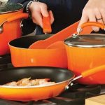 Rachael Ray Cucina Hard Porcelain Enamel Nonstick Cookware Set, 12-Piece