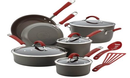 Rachael Ray Cucina Hard-Anodized Aluminum 12 Piece Nonstick Cookware Set