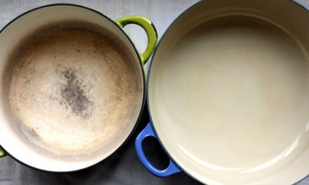 How To Clean Discolored Enamel Cookware?